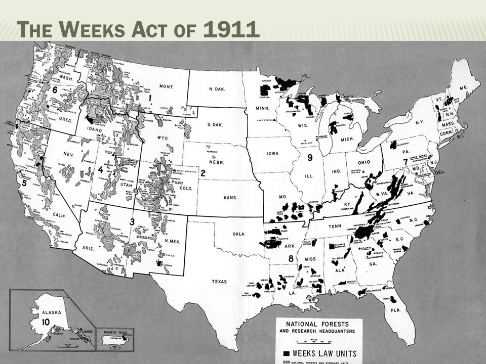 The Weeks Act of 1911 35 percent of the nation's population lives in the Southeast. the Southern Region is the fastest growing part of the country.