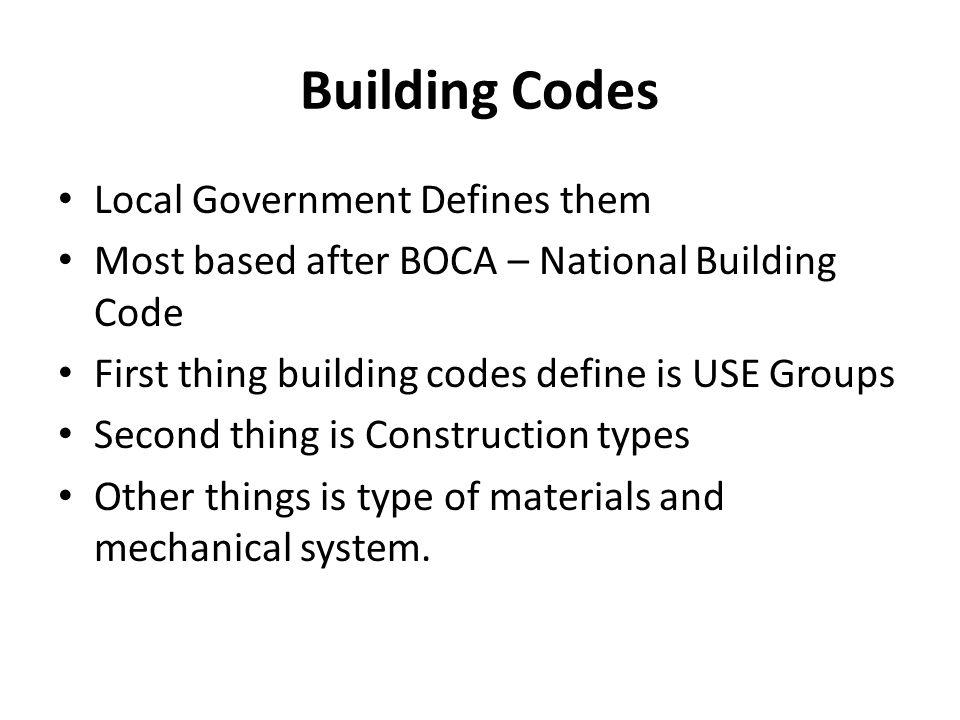 Building Codes Local Government Defines them