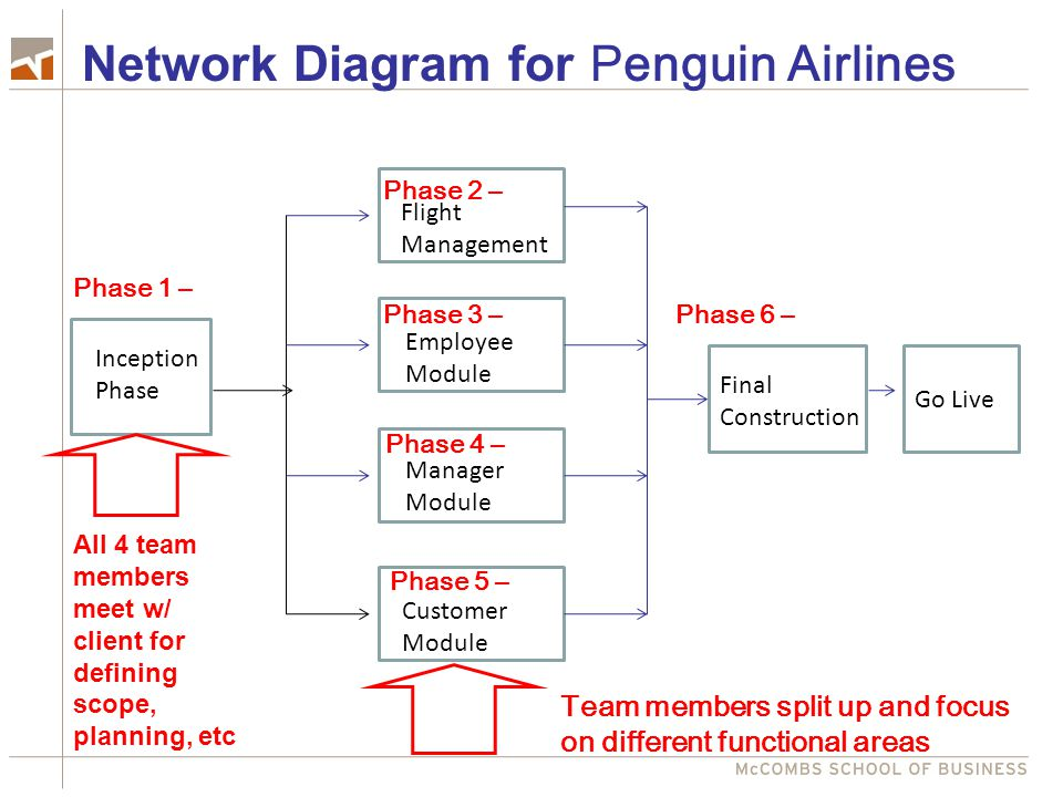 Network Diagram for Penguin Airlines