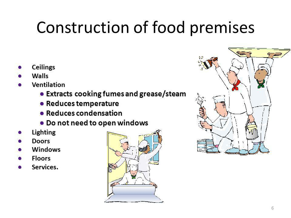 Construction of food premises