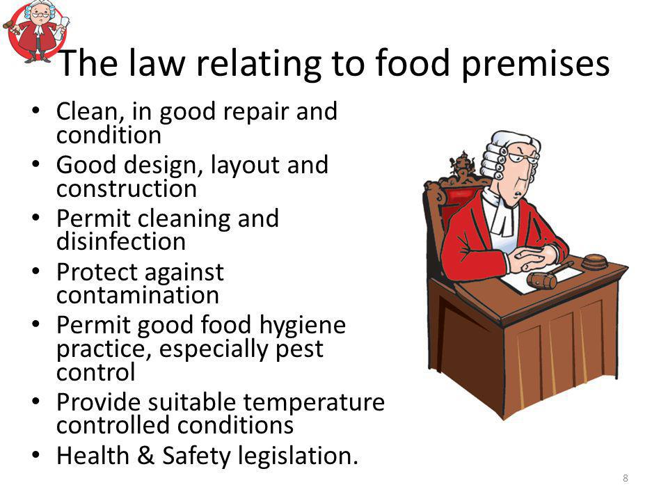 The law relating to food premises