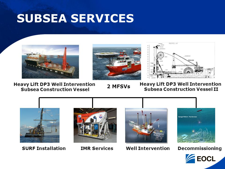 SUBSEA SERVICES 2 MFSVs Heavy Lift DP3 Well Intervention