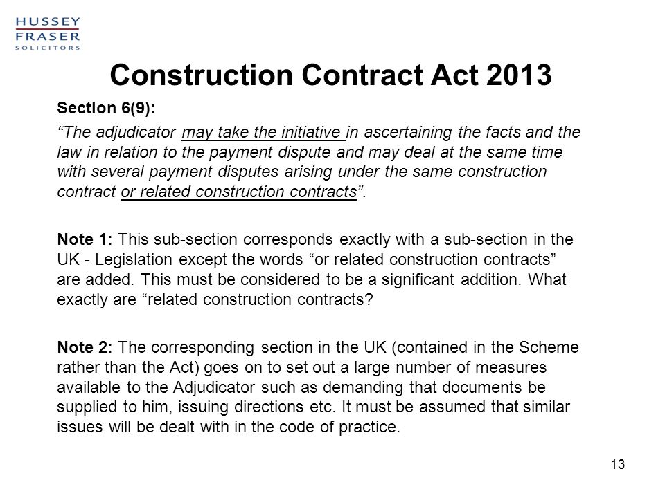 Adjudication Under The Construction Contracts Act Ppt Video Online