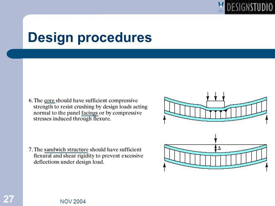 Design procedures NOV 2004
