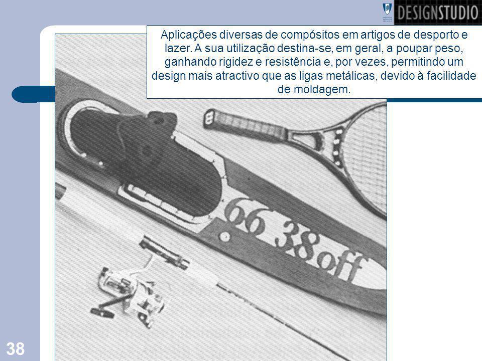 Aplicações diversas de compósitos em artigos de desporto e lazer
