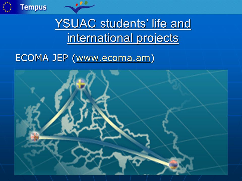 YSUAC students' life and international projects