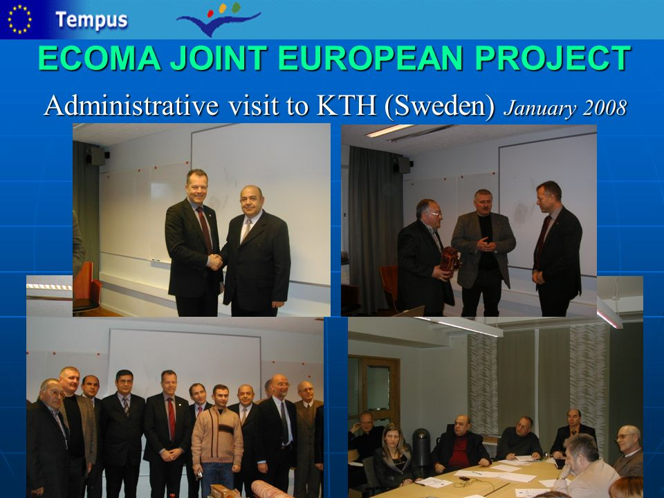 ECOMA JOINT EUROPEAN PROJECT