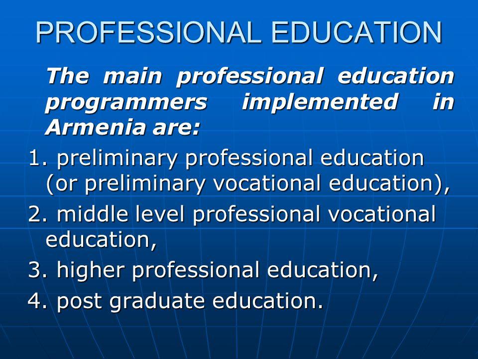 PROFESSIONAL EDUCATION