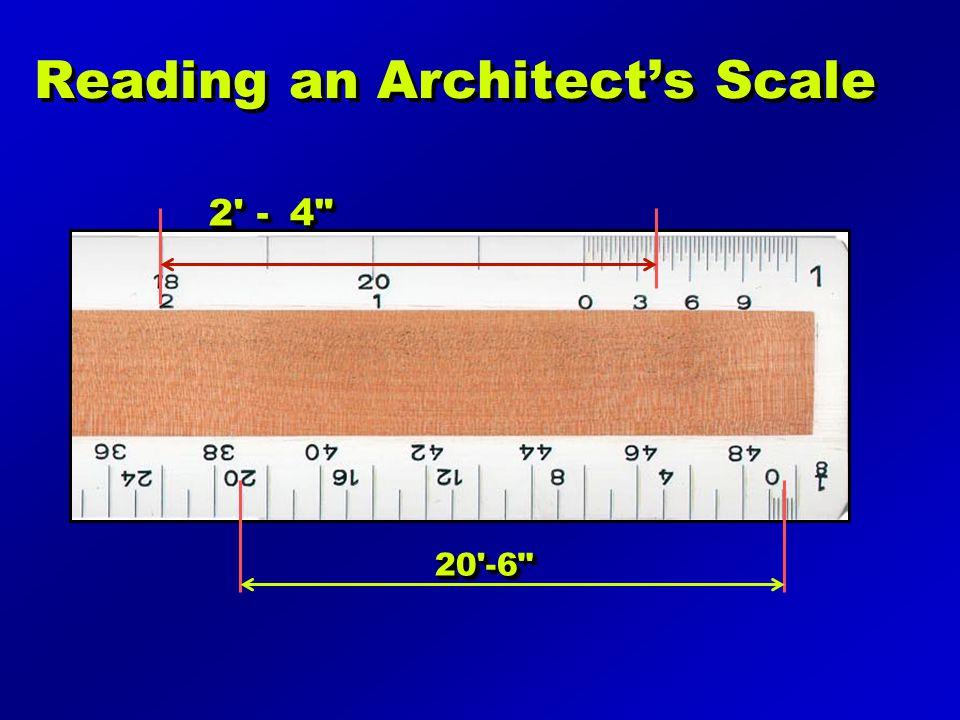 Reading an Architect's Scale