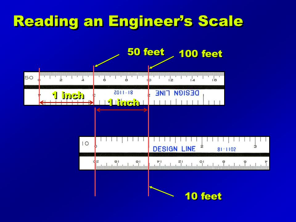 Reading an Engineer's Scale