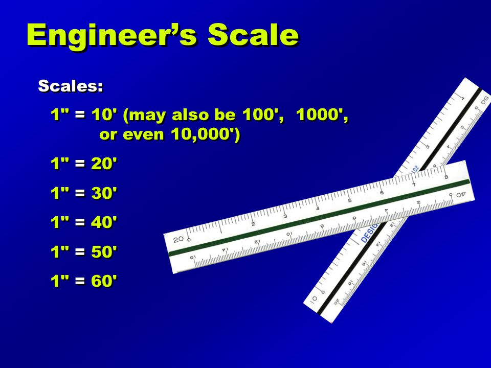 Engineer's Scale Scales: