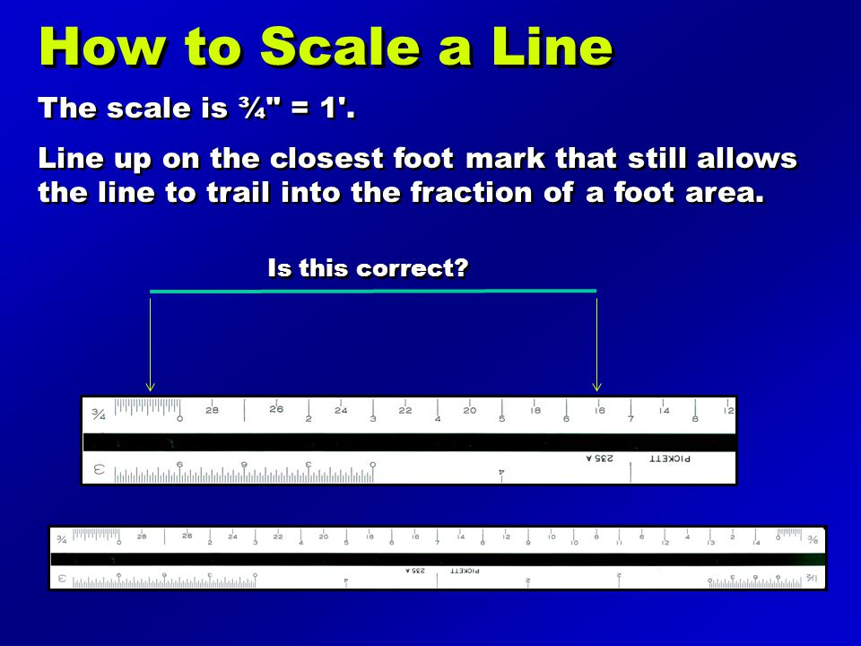 How to Scale a Line The scale is ¾ = 1 .