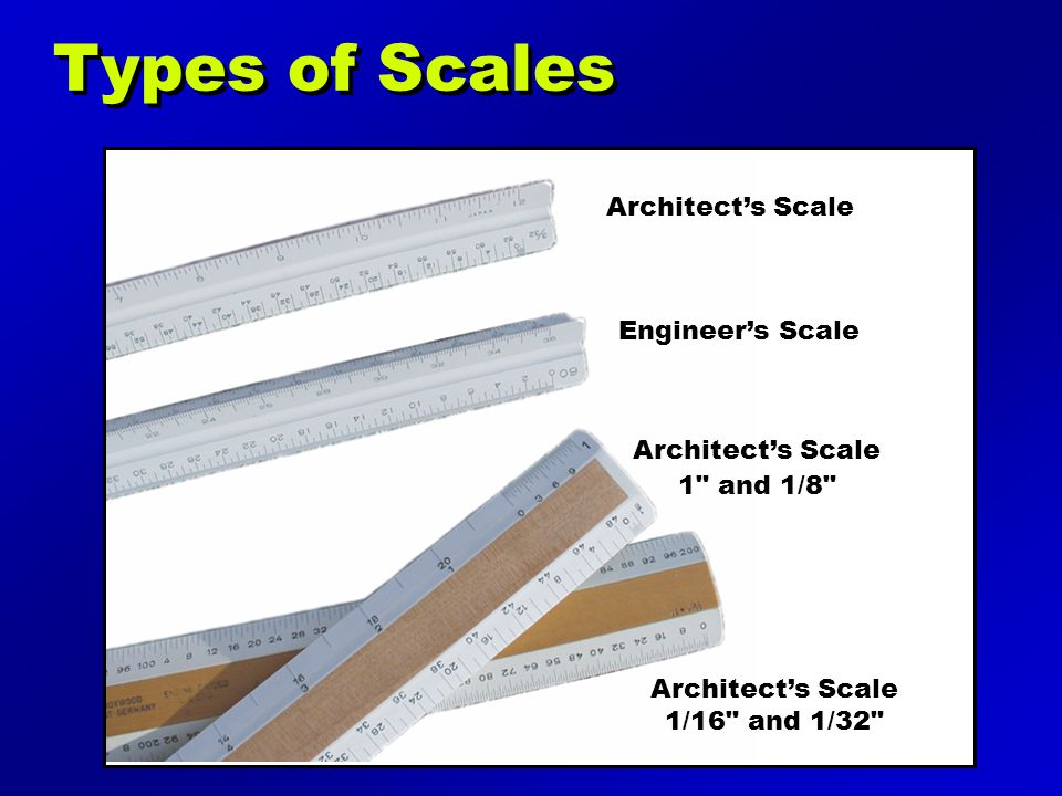 Architect's Scale 1/16 and 1/32