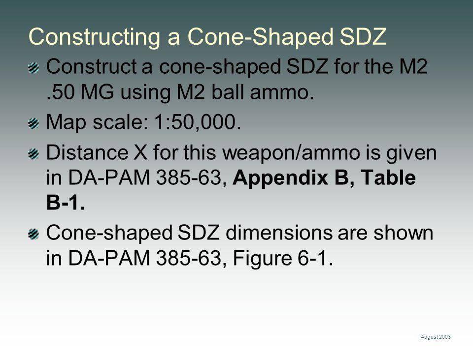 Constructing a Cone-Shaped SDZ