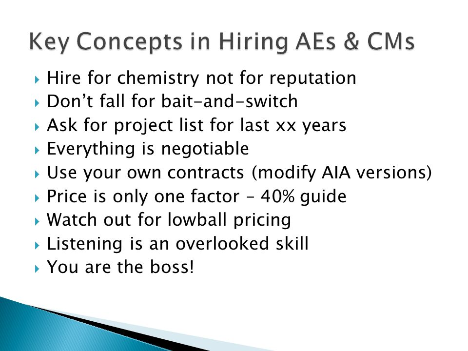 Key Concepts in Hiring AEs & CMs