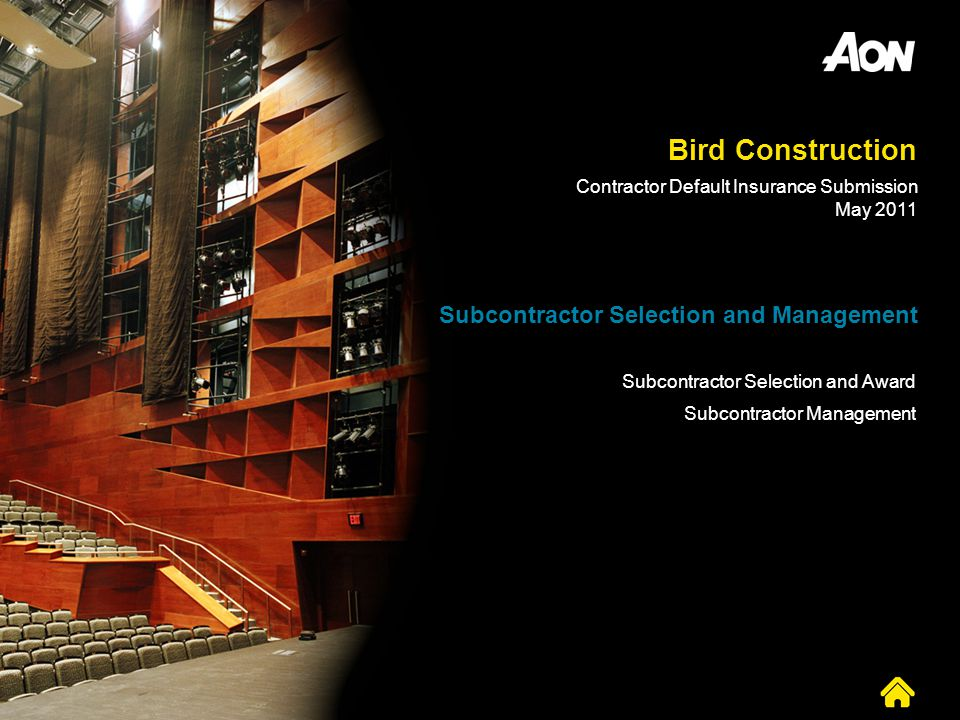 Bird Construction Subcontractor Selection and Management