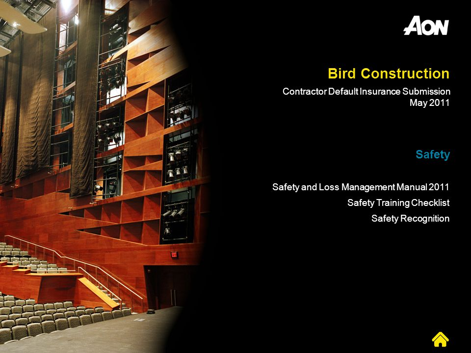 Bird Construction Safety Contractor Default Insurance Submission
