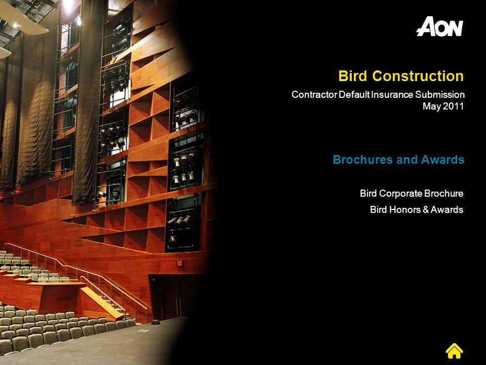 Bird Construction Brochures and Awards
