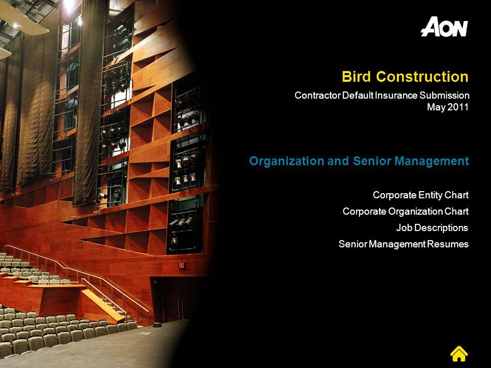 Bird Construction Organization and Senior Management
