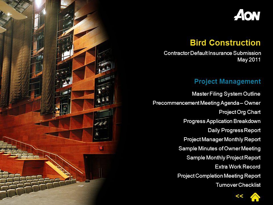 Bird Construction Project Management <<