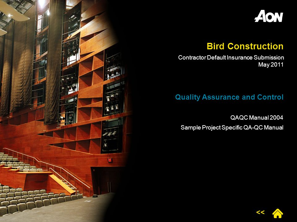 Bird Construction Quality Assurance and Control <<