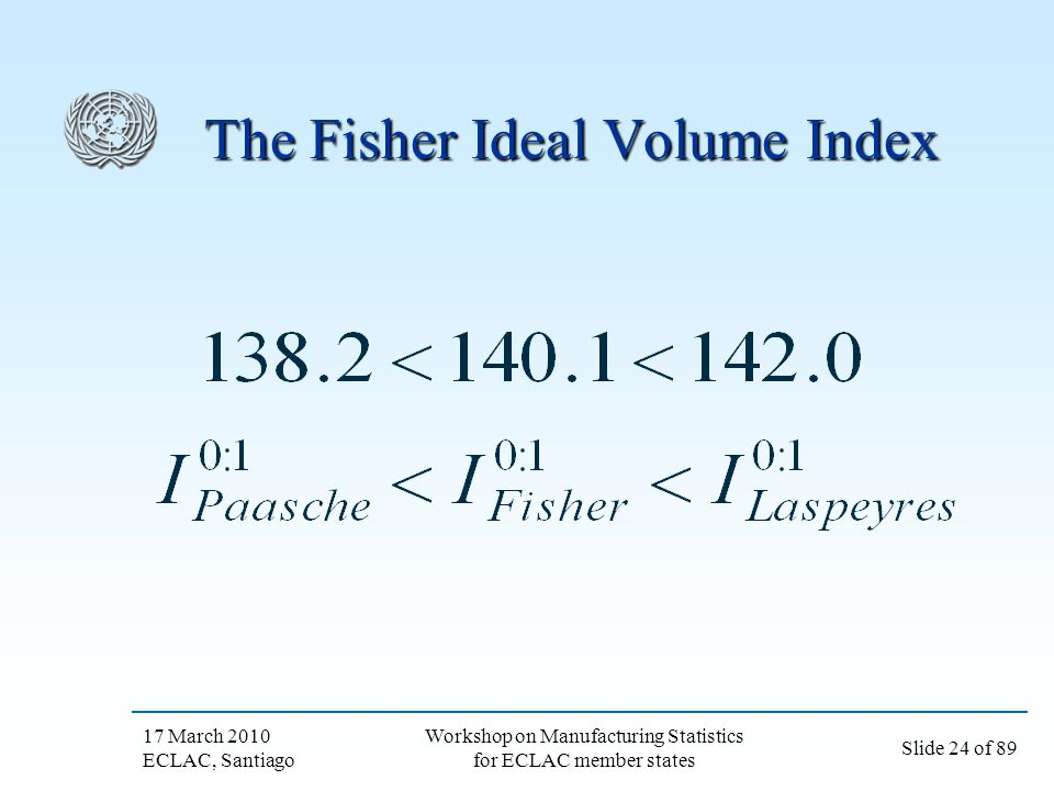 The Fisher Ideal Volume Index