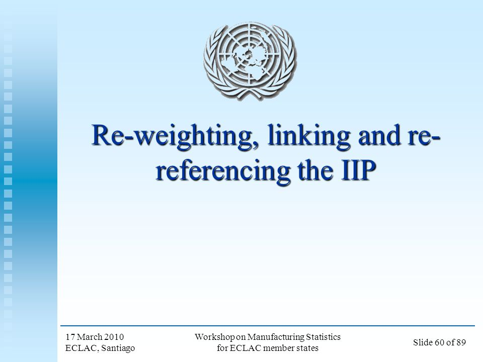 Re-weighting, linking and re-referencing the IIP