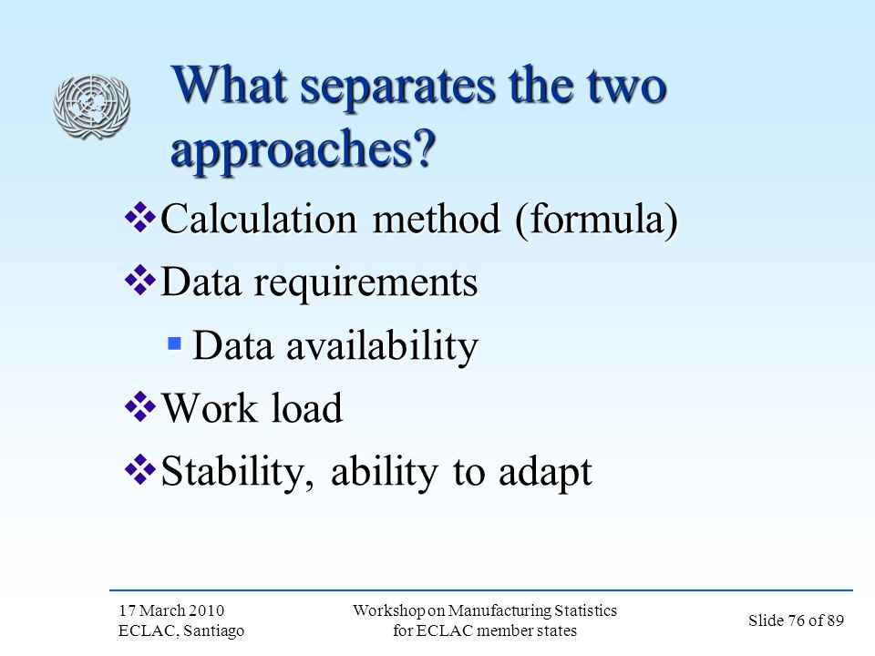 What separates the two approaches