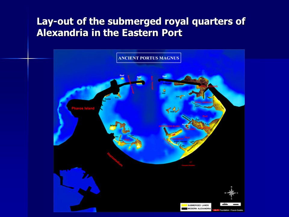 Lay-out of the submerged royal quarters of Alexandria in the Eastern Port