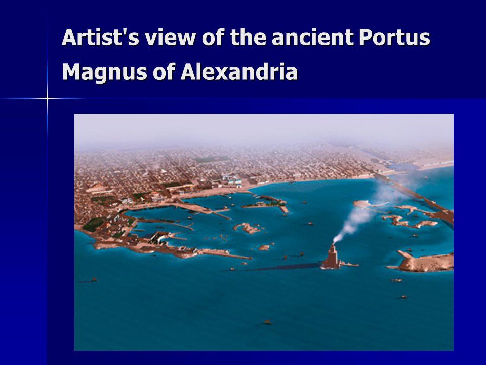 Artist s view of the ancient Portus Magnus of Alexandria
