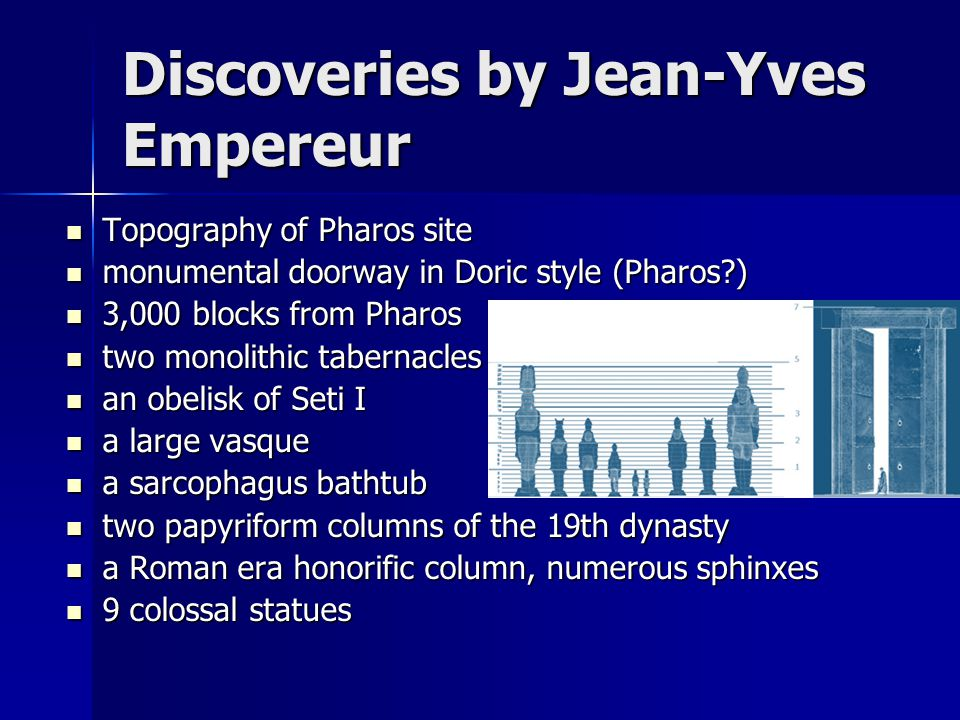 Discoveries by Jean-Yves Empereur