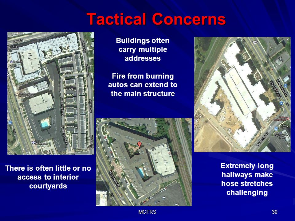 Tactical Concerns Buildings often carry multiple addresses