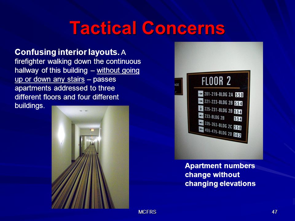 Tactical Concerns