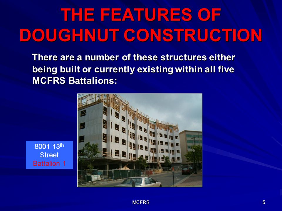 THE FEATURES OF DOUGHNUT CONSTRUCTION