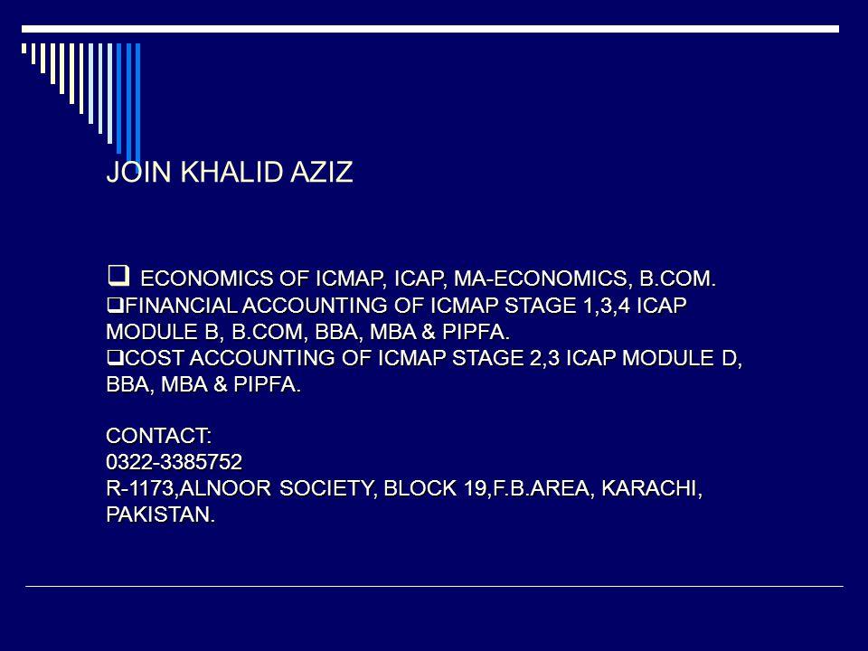 ECONOMICS OF ICMAP, ICAP, MA-ECONOMICS, B.COM.