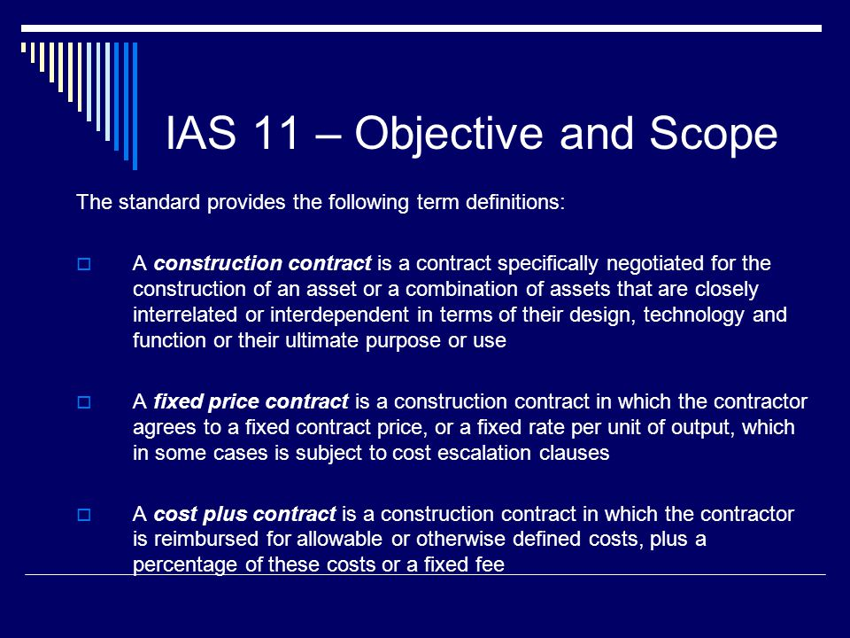 Construction contracts ias ppt video online download for Cost plus building contract