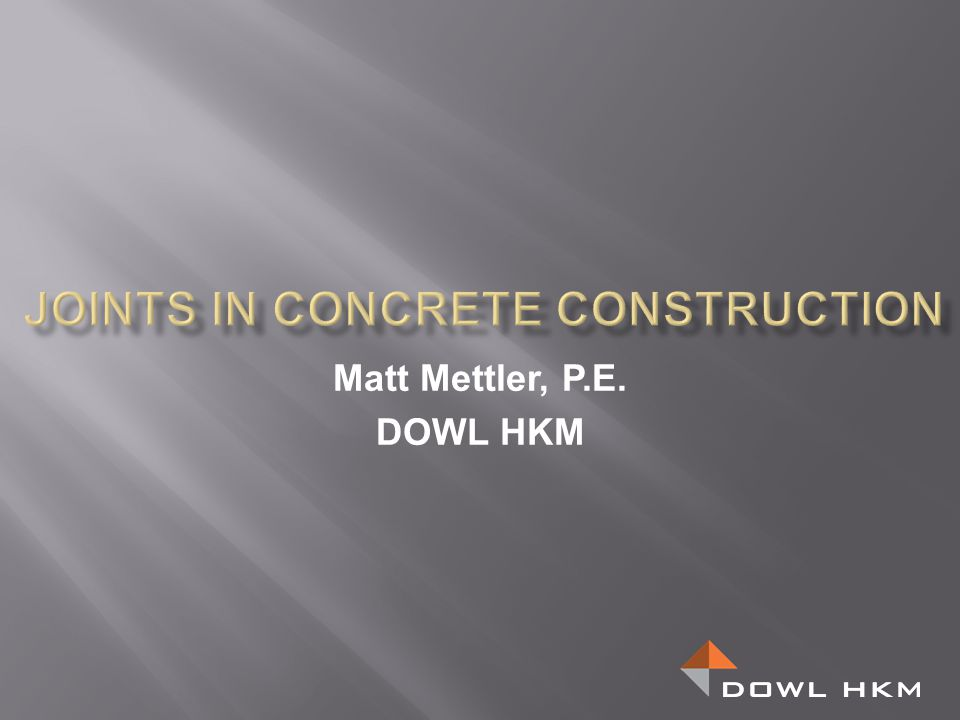 Joints in Concrete Construction