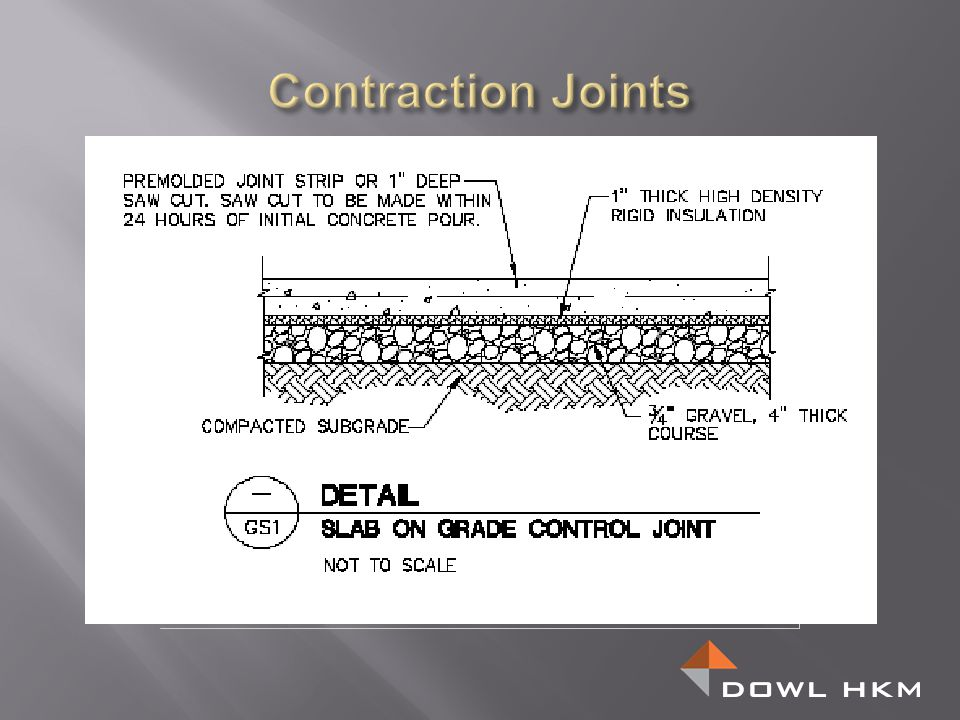 Contraction Joints
