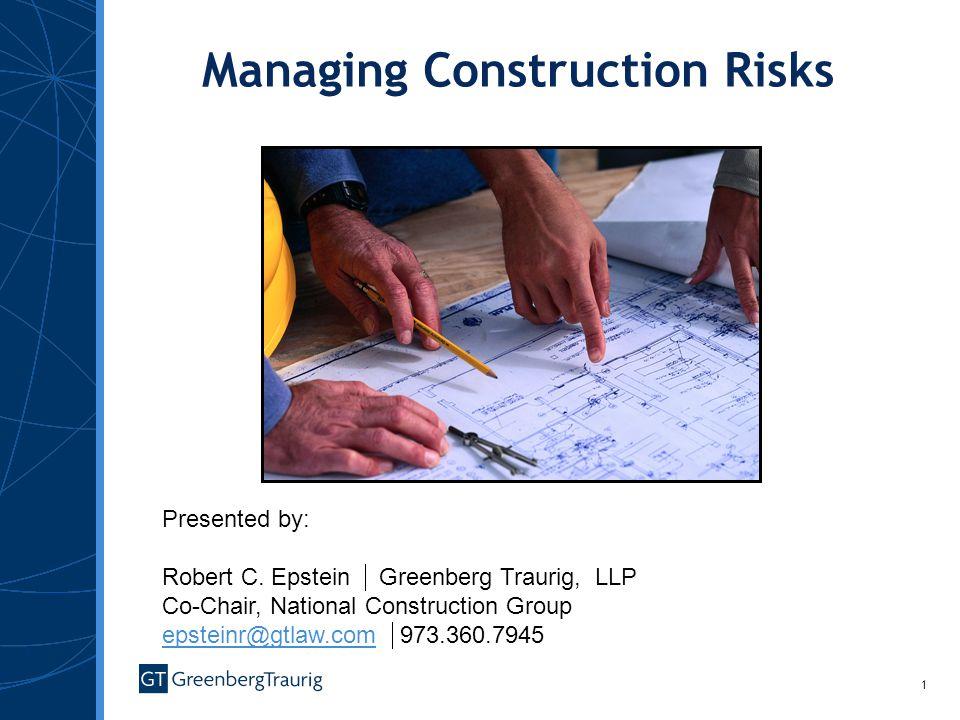 Managing Construction Risks
