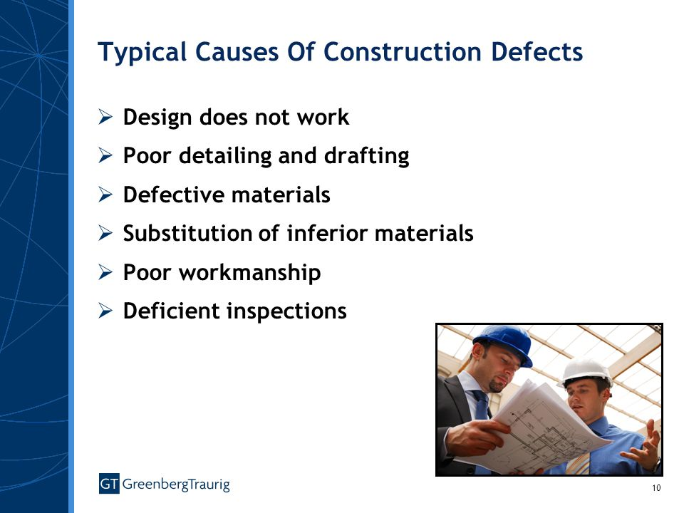 Typical Causes Of Construction Defects