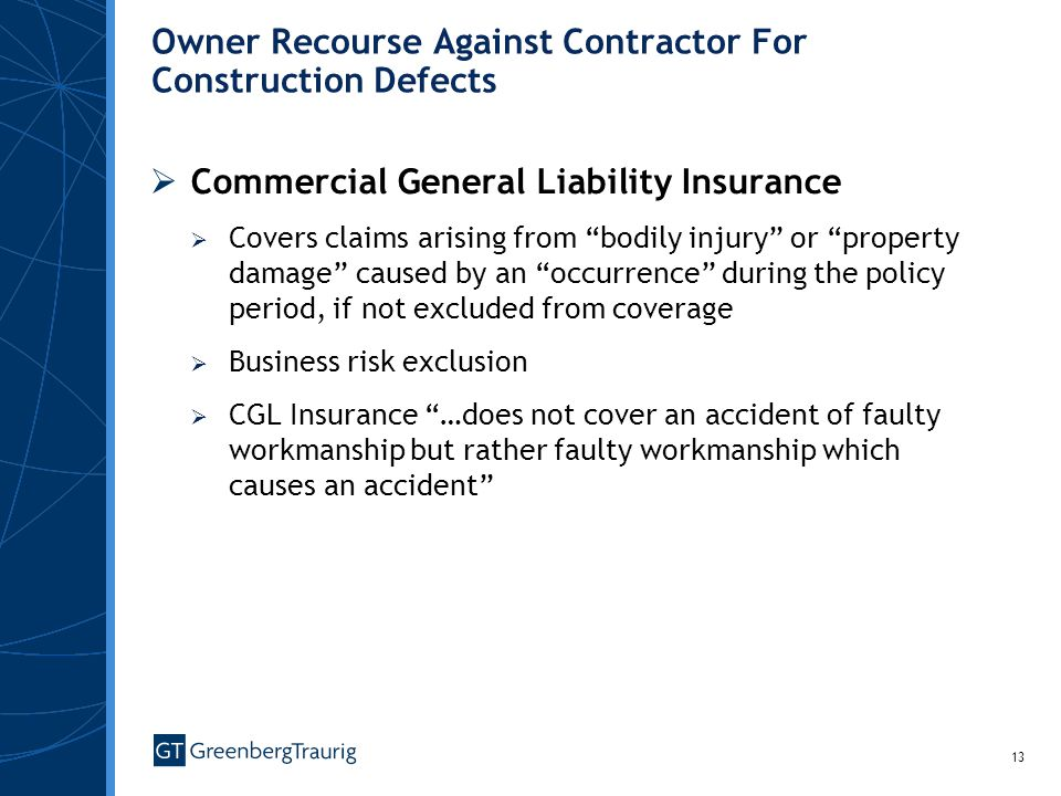 Owner Recourse Against Contractor For Construction Defects
