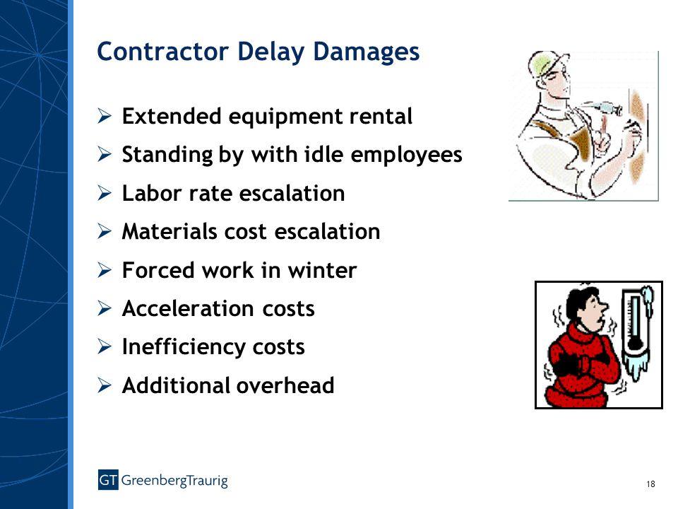 Contractor Delay Damages