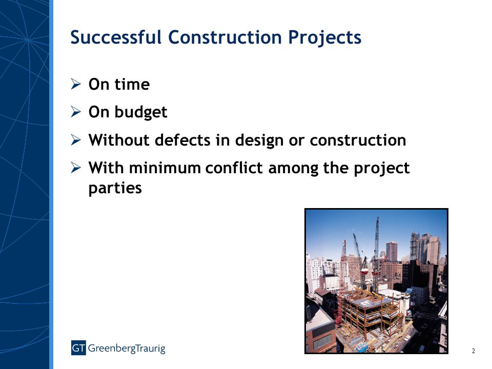 Successful Construction Projects