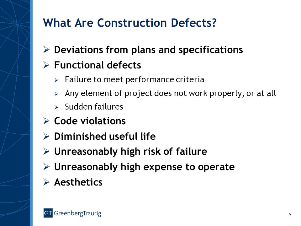 What Are Construction Defects