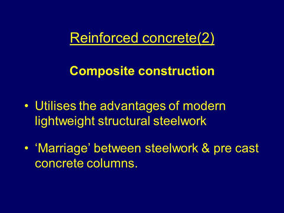 Reinforced concrete(2) Composite construction