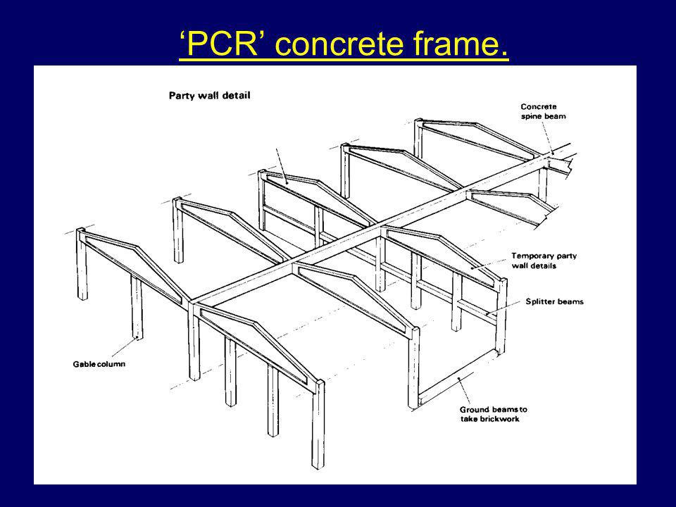 'PCR' concrete frame.