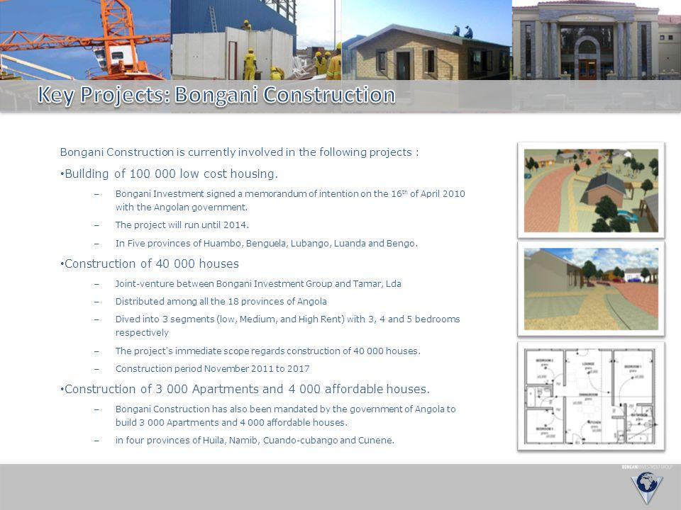 Key Projects: Bongani Construction