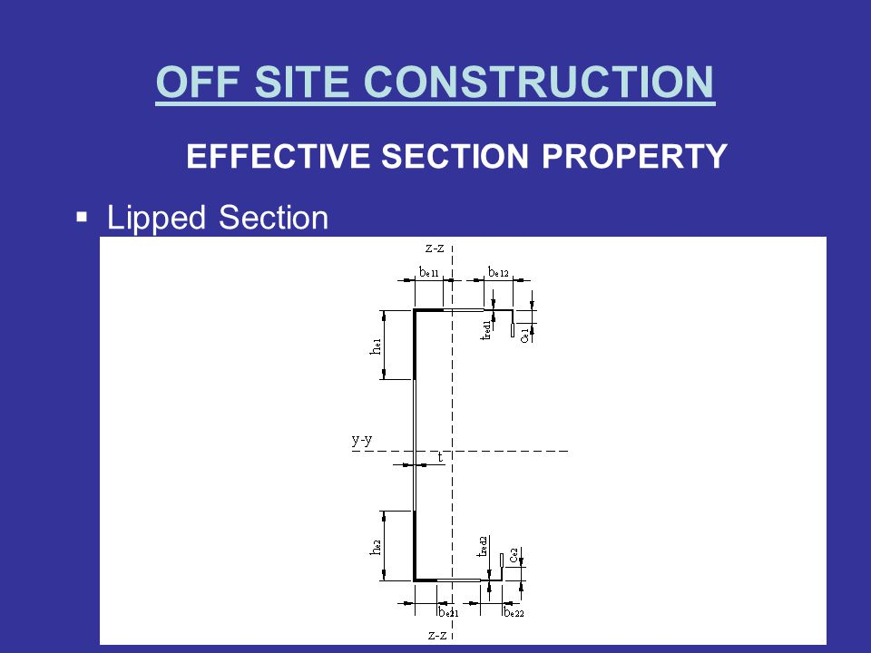 EFFECTIVE SECTION PROPERTY