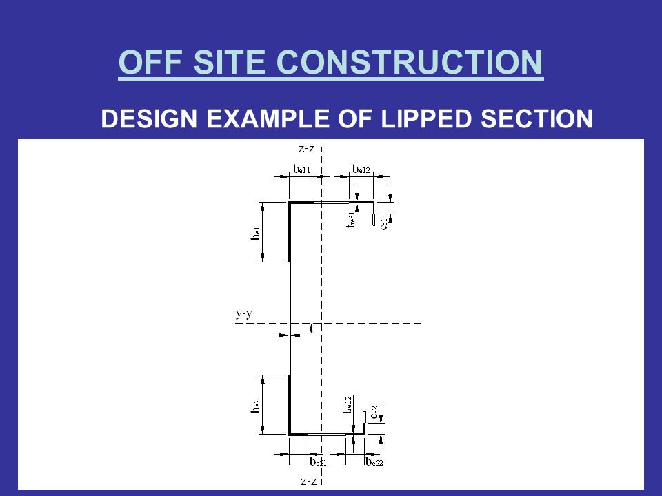 DESIGN EXAMPLE OF LIPPED SECTION