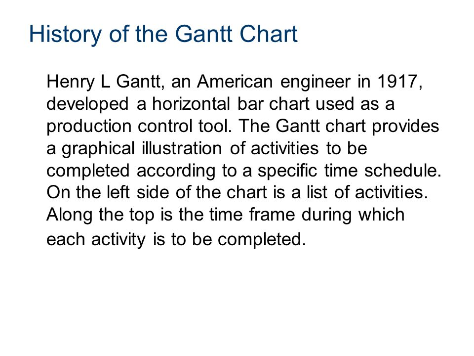 History of the Gantt Chart